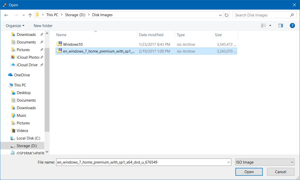 how to create a usb windows 7 install stick