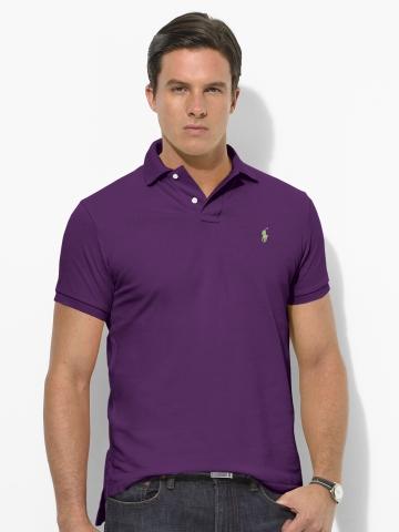 Camisa Polo Classic-instalação de manga curta em malha de algodão  respirável f616669e644