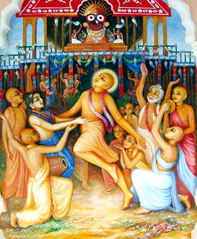 Lord Sri Chaitanya and Bhakthas in Jagannatha Puri