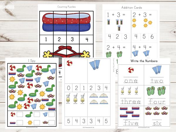 summer-Printables-Math-worksheets