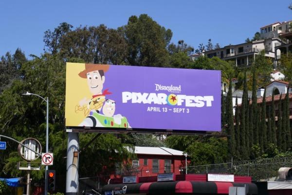 Toy Story Disneyland Pixar Fest billboard