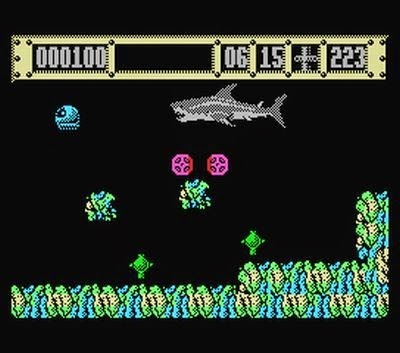 Tiburón videojuego 8 bits
