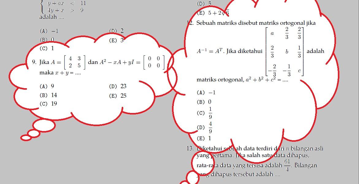Matematika Dasar Matriks (*Soal Dari Berbagai Sumber)