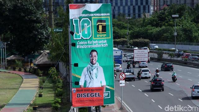 Reklame Rommy dan Tsamara Dicopot, Bawaslu DKI: Itu Area Terlarang