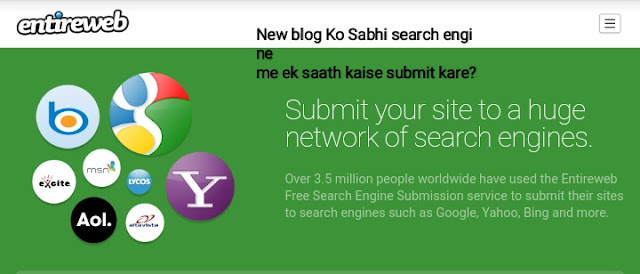 How to submit your blog to all the search engines?