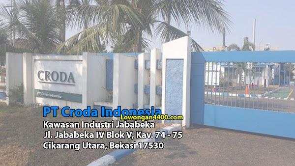 Lowongan Kerja PT Croda Indonesia 2019