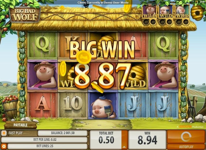 Big Bad Wolf Video Slot Screen