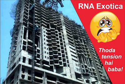 No. of flats to be built in RNA Exotica has dropped by at least 80 since March 2011, and project completion date has slipped by 72 months.