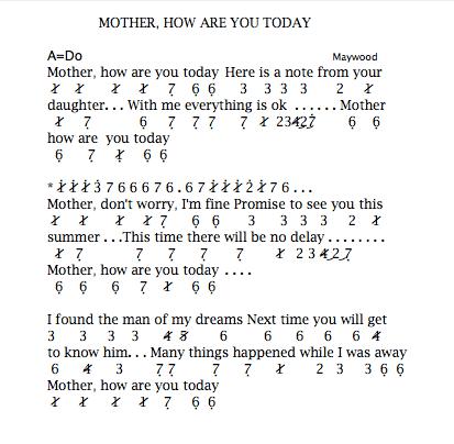 Lirik lagu mother how are you today