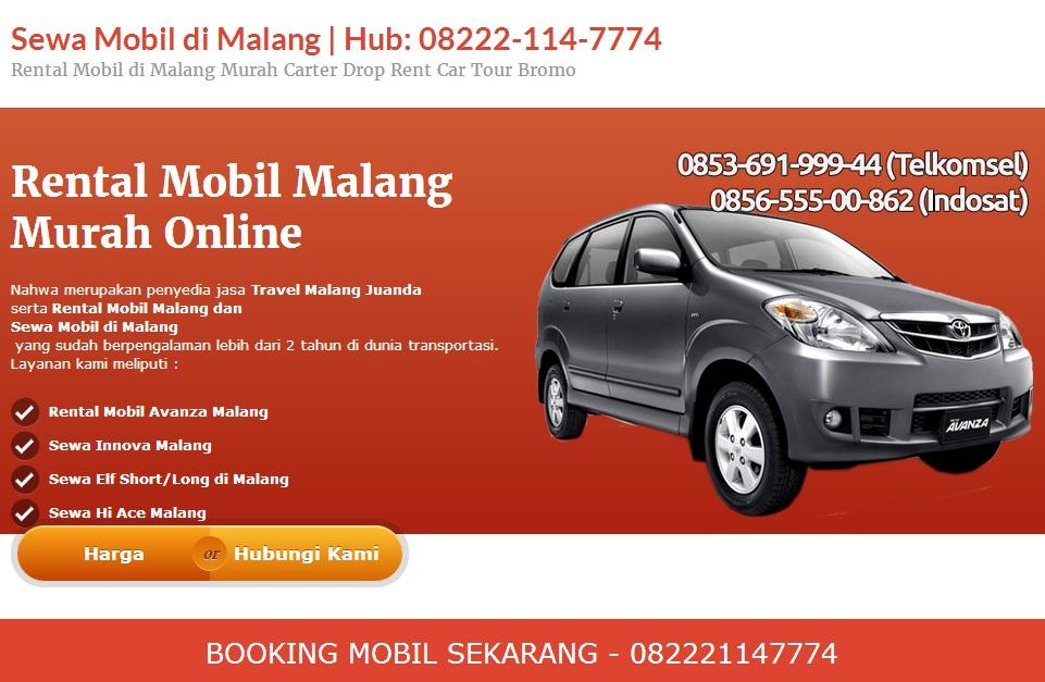 Pilih Nahwa Untuk Jasa Travel Dan Rental Mobil Di Malang Kampung Pariwisata