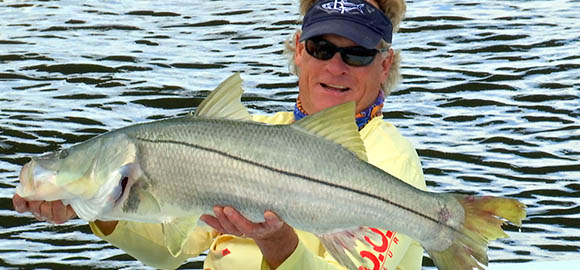 Capt Blair Wiggins Holding a Snook
