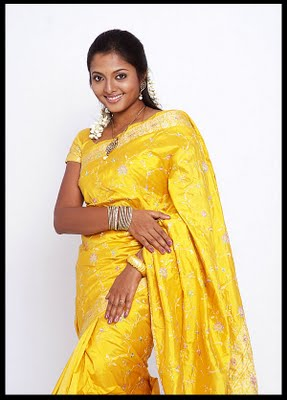 indian women in saree without blouse