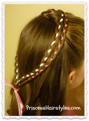 double braid heart hairstyle