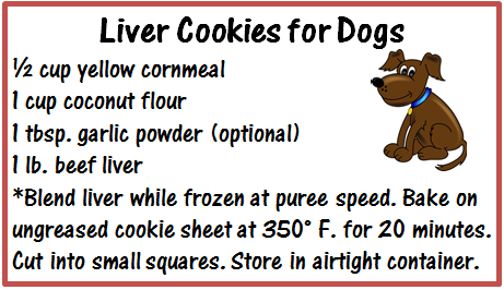 Liver cookies recipe for dogs