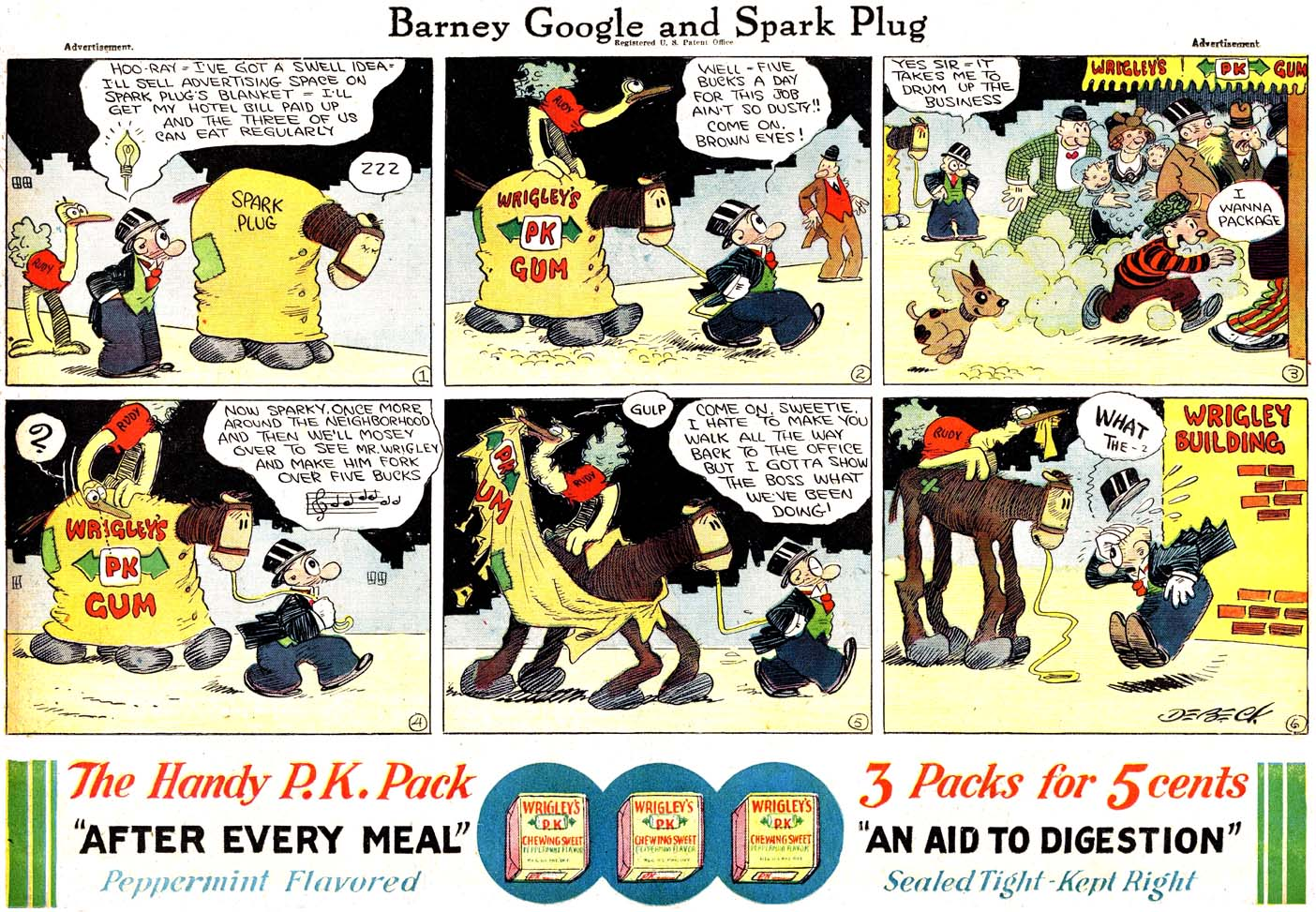 Wrigley's Sunday Comic Strip Ads — Part I | Stripper's Guide