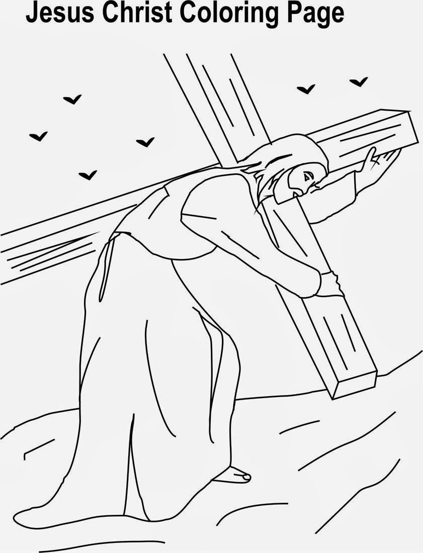 coloring pages jesus - christ redeemer free colouring pages