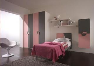Decoración en rosa y gris