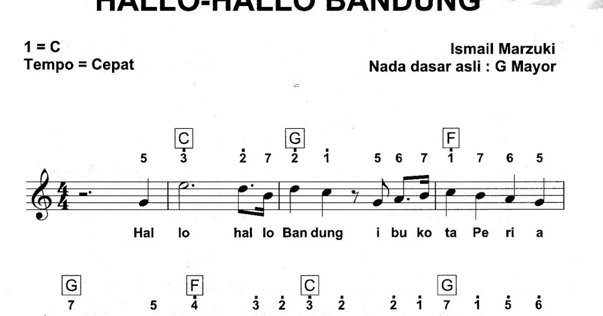 Hallo Hallo Bandung | Partitur Lagu Nasional Indonesia