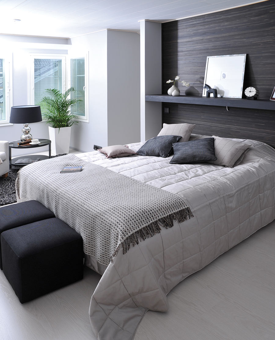 Dormitorios con blanco y negro dormitorios colores y estilos for Dormitorio blanco y madera