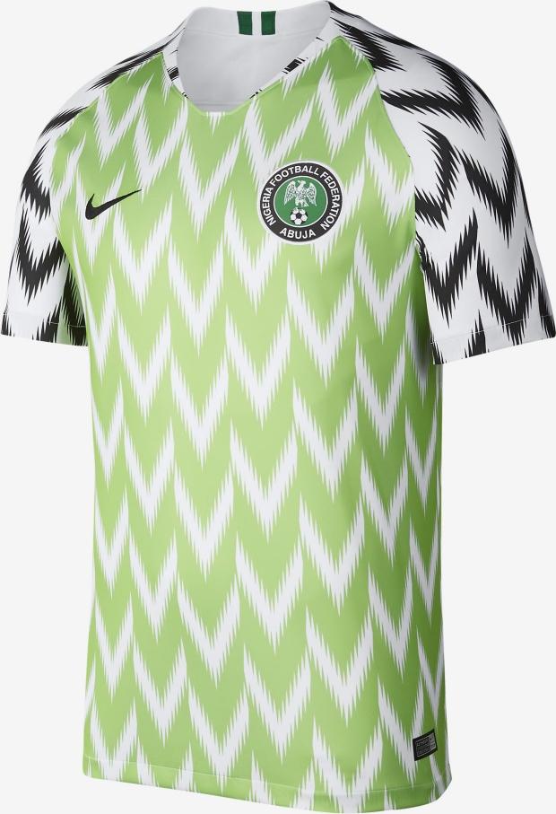 ab753a18e7 Nike lança a camisa titular do Nigéria para a Copa do Mundo - Show ...