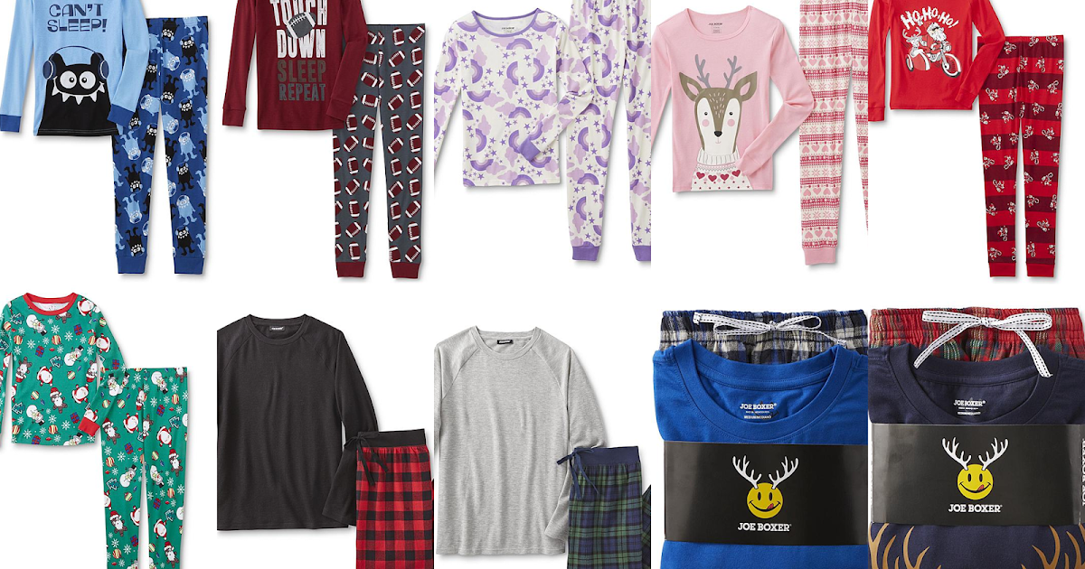 Kmart: 2 for $10 Joe Boxer Pajama Top & Pants Sets + Free Ship on ...