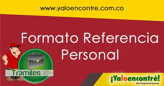 formato referencia personal yaloencontr