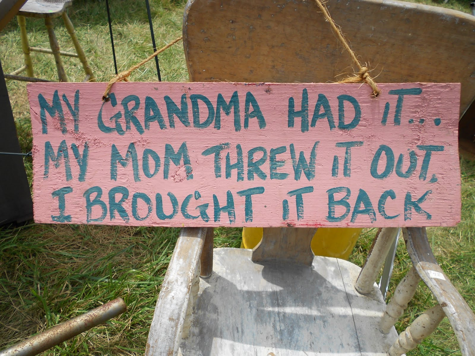 project small: 127 yard sale: signs from the trip!