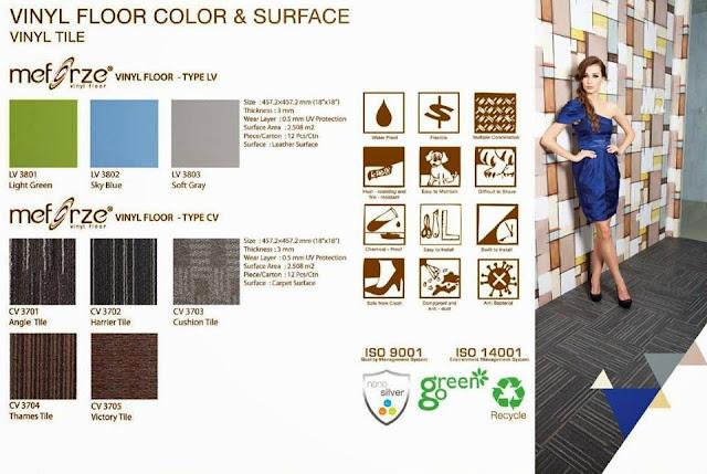Vinyl Meforze Carpet Tile