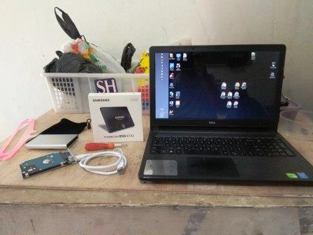 alat dan bahan ganti HDD laptop ke SSD