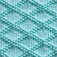 King Charles Brocade diamond knitting pattern - A combination of KNIT and PURL