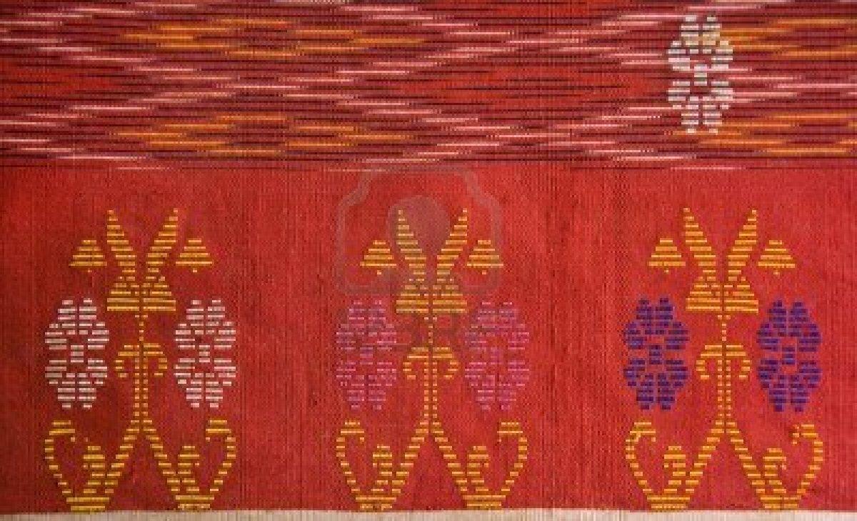 Life Between Potato And Rice Ulos Batak Traditional Print