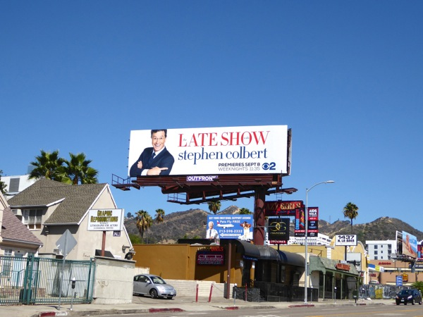 Late Show Stephen Colbert billboard