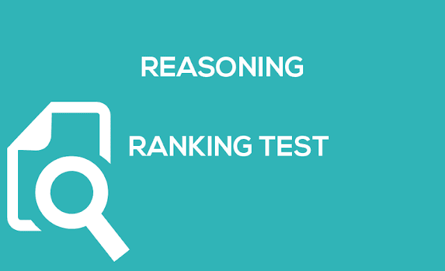 RANKING TEST ( logical reasoning & data interpretation)