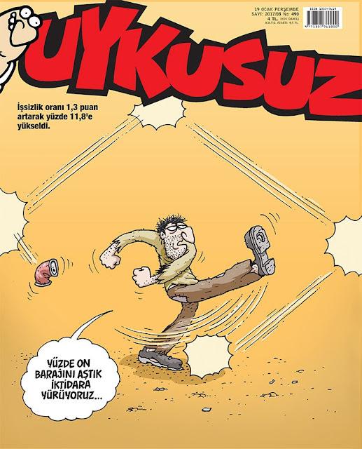 Uykusuz Dergisi | 19 Ocak 2017 Kapak Karikatürü