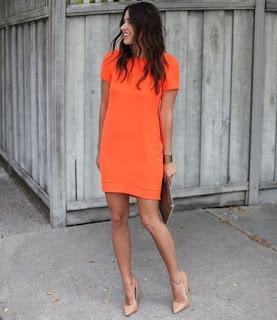 Imágenes Tendencias Moda Mujer Instagram Primavera Verano Total look naranja vestido