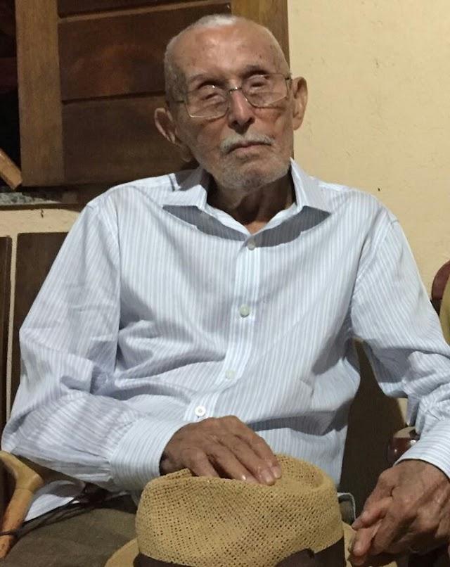 PERDA: Santin do Lilás falece aos 102 anos em Teresina; corpo foi sepultado no cemitério Sambaíba em Elesbão Veloso.