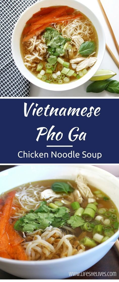 Vietnamese Pho Ga – Chicken Noodle Soup