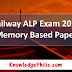 RRB Railway ALP 2018 All Shift All Days Official & Memory Based Question Paper / Download PDF