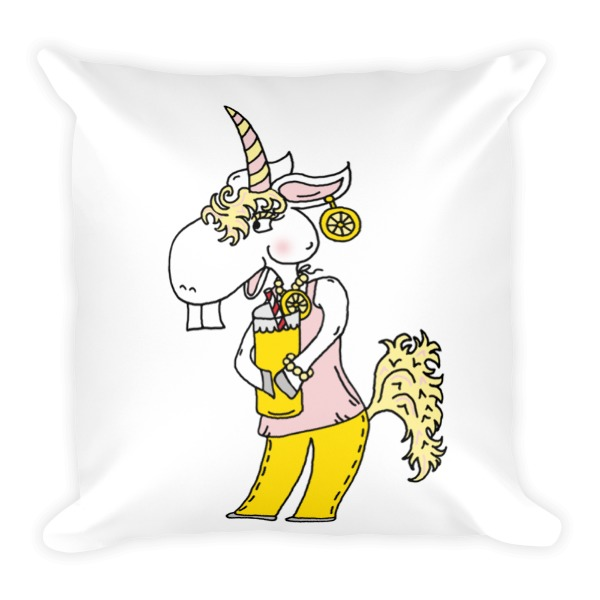 Unicorn Throw Pillows by The Iced Sugar Cookie- Unicorn Decorations for the home- Unique cute unicorn pillows