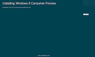 在 Windows XP 第一次執行 Windows 8 安裝程式