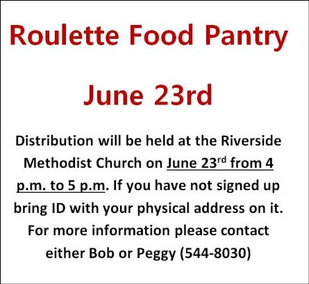 6/23 Roulette Food Pantry Distribution