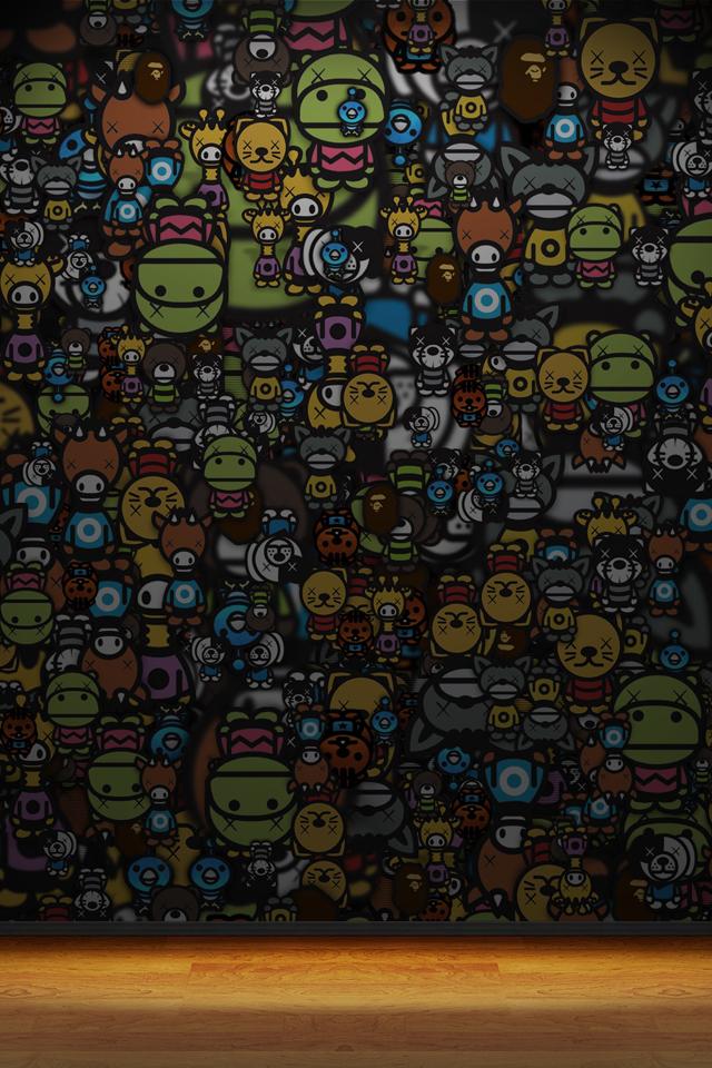 12b3c9f4 Bape Cartoons Iphone 4 Wallpaper Pocket Walls Hd Iphone