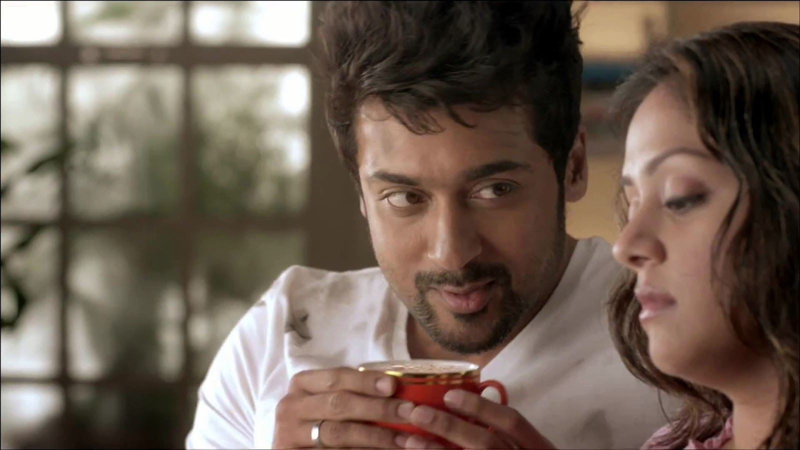 Surya Sikindar Stills In Hd Wallpapers: Actor Surya And Jyothika Coffee Add Images In HD