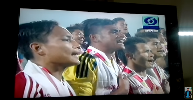 Indian officials offended Nepal by inexplicably stopping its National Anthem in the middle at a South Asian Games event in Guwahati on Monday.  The incident occurred at the price distribution ceremony after the football finals between India and Nepal.  After the host country lost 1-2, Nepalese players lined up to receive their prizes. Defeating a Big Brother neighbour was a huge moment of pride for them.