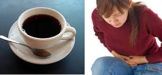 Why after drinking coffee stomach ache like nausea, bloating and twisting