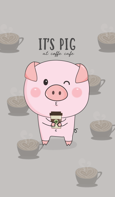It's pig at coffee cafe.