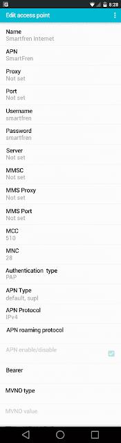 Cara Setting Jaringan 4G LTE Smartfren di Asus Zenfone 2