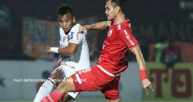 Hasil Pertandingan Persija vs United United 0 - 2