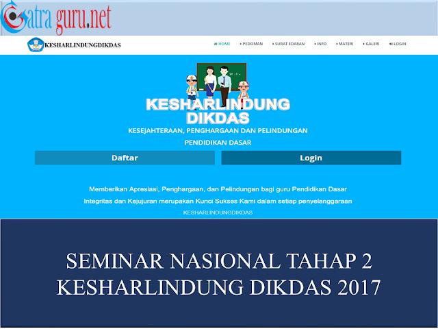 Seminar Nasional Tahap 2 Kesharlindung Dikdas 2017