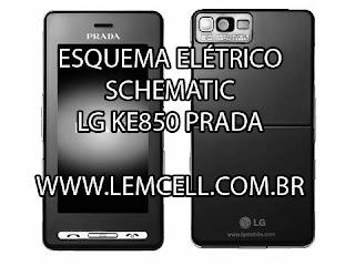 Esquema Elétrico Celular LG KE850 Prada Manual de Serviço  Service Manual schematic Diagram Cell Phone Smartphone Celular LG KE850 Prada
